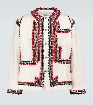 Bode Pom-pom applique workwear jacket