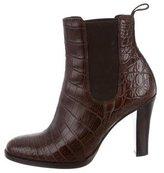 Ralph Lauren Dania Crocodile Ankle Boots