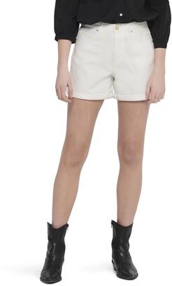Only High Waist Cuffed Shorts