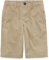 Arizona Flat Front Chino Shorts - Boys 8-20, Slim and Husky