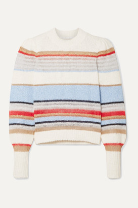 Veronica Beard Meredith Striped Knitted Sweater - White