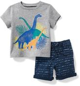 Old Navy 2-Piece Graphic Tee and French-Terry Shorts Set for Baby