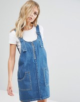 Noisy May Denim Overall Dress