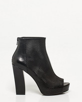 Le Château Leather-Like Block Heel Shootie