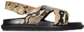 Marni Fussbett snake-print sandals