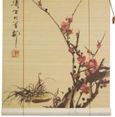 "Oriental Furniture Sakura Blossom Bamboo Blinds - 36"" x 72"""