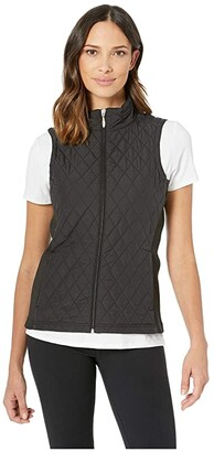 Laurèl Straight Down Vest (Black) Women's Vest