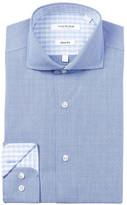 Isaac Mizrahi Dot Gingham Slim Fit Dress Shirt