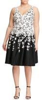 Lauren Ralph Lauren Plus Size Women's Border Print Fit & Flare Dress