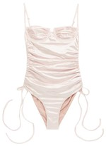 Isa Boulder - Nina Underwired Ruched Swimsuit - Womens - Light Pink