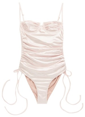 Isa Boulder - Nina Underwired Ruched Swimsuit - Light Pink
