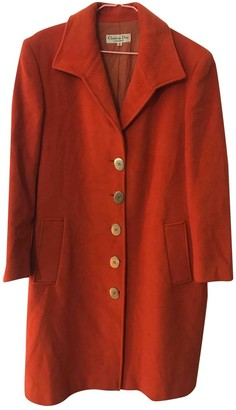 Christian Dior Orange Wool Coats