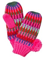 Le Big Multi Stripe Knitted Mittens