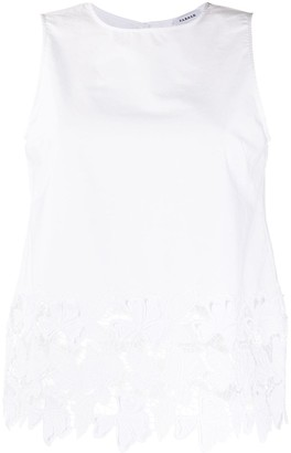 P.A.R.O.S.H. Sleeveless Lace Top