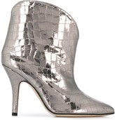 Paris Texas metallic pointed ankle boots