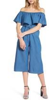Everly Women's Ruffle Chambray Jumpsuit