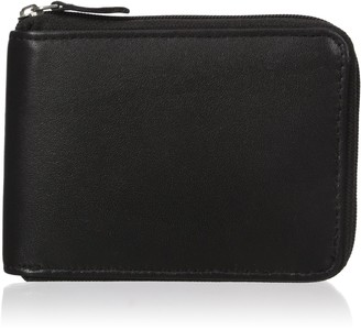 Buxton Men's Emblem Zip-Around Billfold Wallet