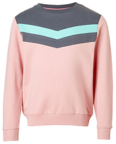 John Lewis Girls' Chevron Sweatshirt, Pink