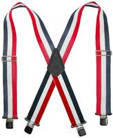 CTM® Men's Big & Tall Non-Elasticized Clip End Work Suspenders, Red, White