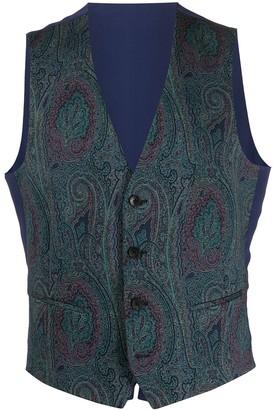 Etro Sleeveless Paisley Pattern Waistcoat