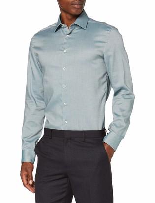Seidensticker Men's Slim Langarm Struktur Dress Shirt