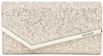 Jimmy Choo Emmie Painted Coarse Glitter Clutch
