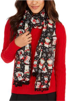 Cejon Puppy Outfits Holiday Oblong Scarf