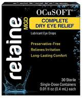 Ocusoft Retaine MGD Complete Dry Eye Relief Lubricant Eye Drops Single-Dose Containers