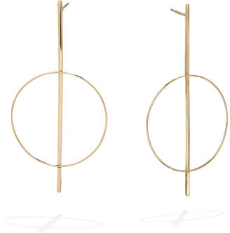 Lana 14k Gold Flat Bar Hoop Earrings