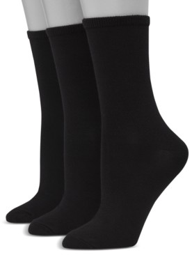 Hanes Women's Ultimate ComfortSoft 3pk Crew Socks, Extended Size