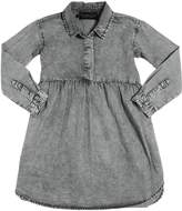 Finger In The Nose Bleached Chambray Dress