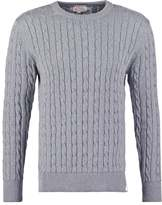 Knowledge Cotton Apparel Jumper Grey Marl