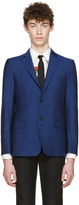 Alexander McQueen Blue Mohair Two-button Blazer