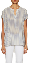 BCBGMAXAZRIA Fatima Silk Stripe High Low Top