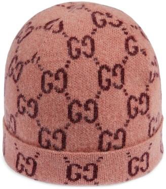 Gucci Kids GG intarsia-knit beanie hat