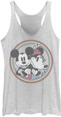 Licensed Character Juniors' Disney Mickey & Friends Mickey And Minnie Retro Tank