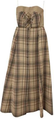 DELPOZO Ecru Wool Dresses