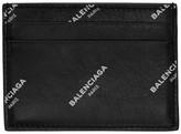 Balenciaga Black All Over Logo Card Holder