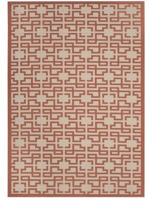"Martha Stewart Cotton Beige/Terracotta Area Rug Rug Size: Rectangle 2'7"" x 5'"