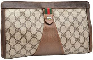 Gucci Guccy clutch Brown Plastic Clutch bags