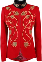 The Extreme Collection Red Embroidered Blazer Alejandra