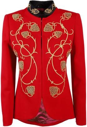 Red Embroidered Blazer Alejandra