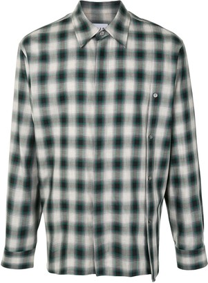 Solid Homme Faded Plaid Shirt
