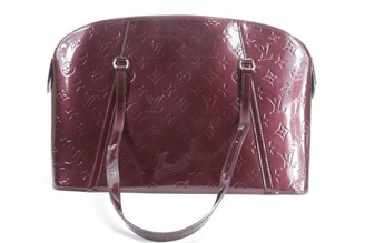 Louis Vuitton Avalon Burgundy Patent leather Handbags