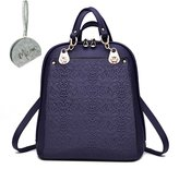 Micom Fashion Embossing Pu Leather College Backpacks Purse for Women,girls