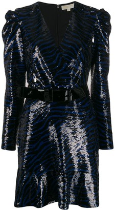 MICHAEL Michael Kors zebra sequin mini dress