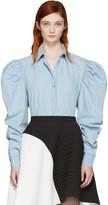 Marques Almeida Blue Puff Sleeve Shirt