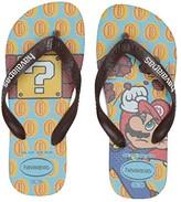 Havaianas Mario Bros Flip-Flop (Toddler/Little Kid/Big Kid) (Ice Blue/Dark Brown) Kids Shoes