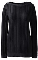 Classic Women's Cotton Cable Boatneck Tunic Sweater-Fresh Melon