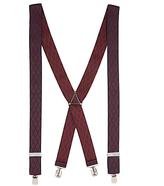 John Lewis Diamond Braces, One Size, Burgundy/Black